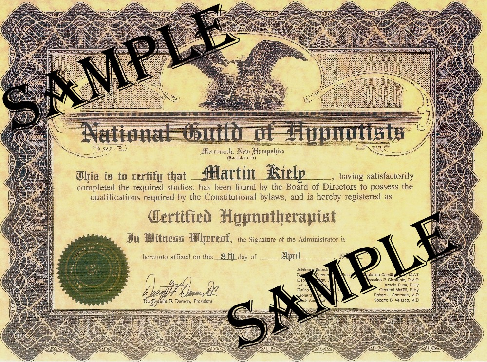 Hypnosis Hypnotherapy Training Leinster Ireland NGH Approved Certification with Martin Kiely