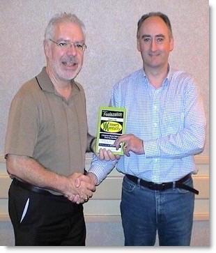 Hypnotist Martin Kiely with Bob Reese
