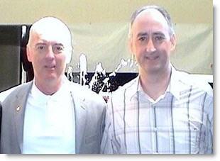 Hypnotist Martin Kiely with Tom Nicoli