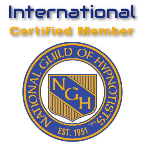 International Member of the National Guild of Hypnotists Logo (TM) NGH Hypnosis Training Course Ireland Consulting Hypnotist Certificate